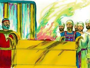 La construction par Moïse du sanctuaire dédié au culte de Jéhovah Dieu 023-mo15