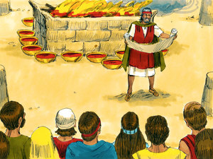 Dieu communique avec la nation d'Israël et lui transmet sa Loi 028-mo14