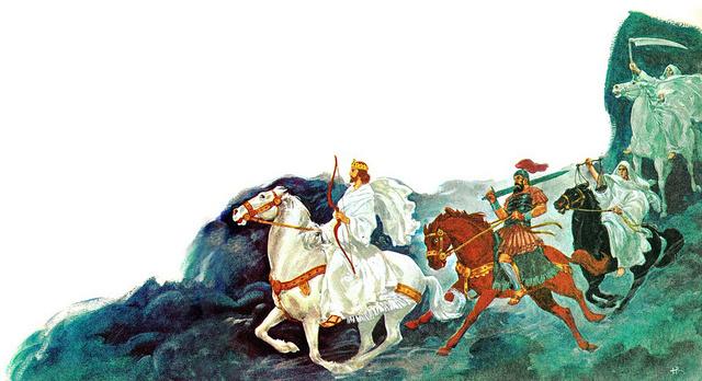 ♦ Apocalypse 6 : 2 : Le cheval blanc 348-6011