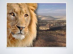 ♦ Apocalypse 10 : 3 : Le rugissement d'un lion est suivi de 7 tonnerres qui retentissent Lion11