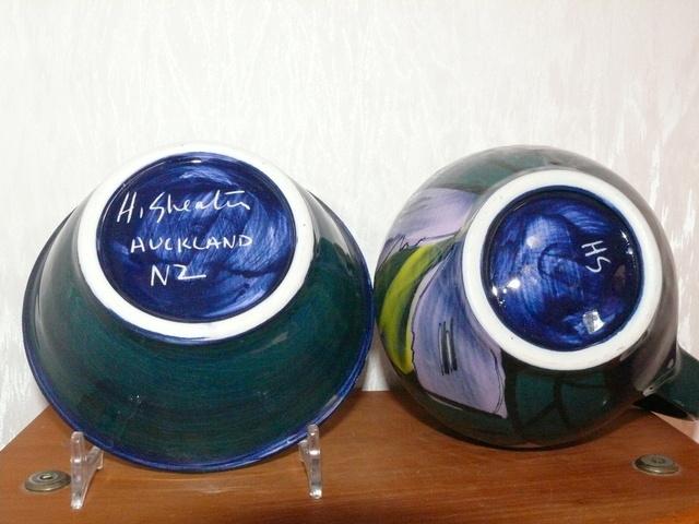 Heather Skeates jug, bowl & mark for gallery Heathe27