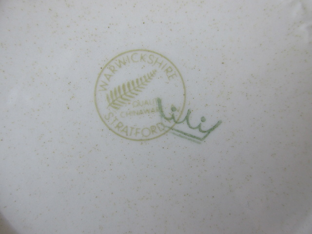 Monogramed ashtray interesting backstamp Img_3712