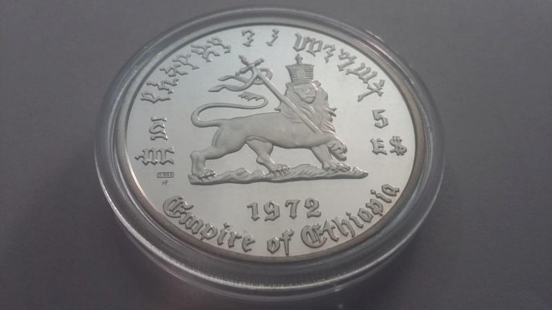 5 dolares Haile Selassie 1972, Etiopia 20171111
