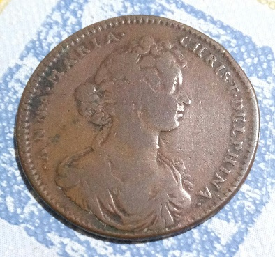 """Jeton du Dauphiné """"Anne-Marie-Christine de Bavière"""" 1681 ... 1025"""