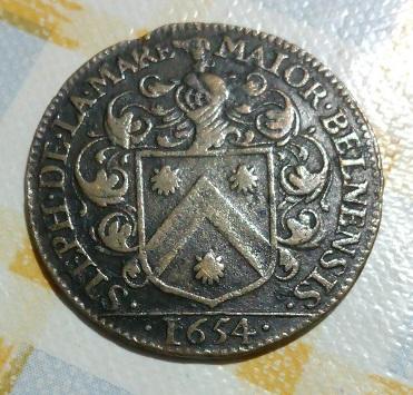 Jeton Stephane de La Mare, maire de Beaune, 1654 ...  1027