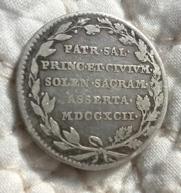 Médaille pour l'installation de l'Empereur François II en Flandres, 1792 ... 10a17