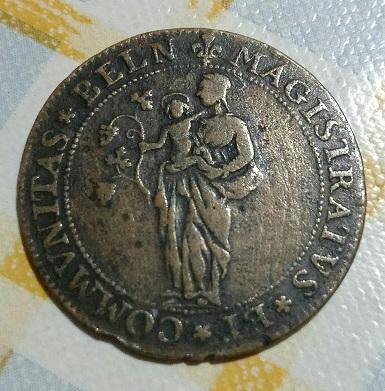 Jeton Stephane de La Mare, maire de Beaune, 1654 ...  10a28