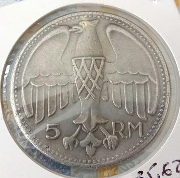 Fantaisie allemande, 5 RM de 1935 10a52
