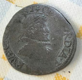 Stoter de Zelandia del año 1595, acuñado en Middelburg. 1116