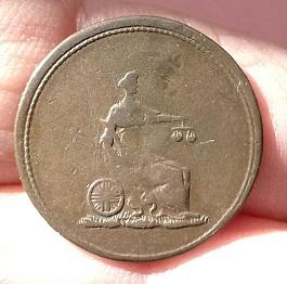 Jeton 1/4 de Penny de la Colombie-Britannique (1820-1830) 115