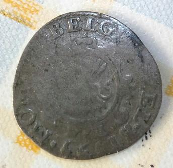 Stoter de Zelandia del año 1595, acuñado en Middelburg. 11a16