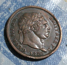 """Shilling """"nouveau style"""" de Georges III, 1820 124"""