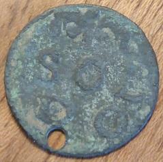 1 Soldo de Modena , acuñado por Francesco III  d´Este ( 1737/1780 ). 1310