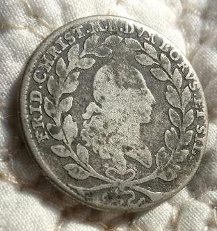 "10 kreuzer pour Friedrich Christian,  États Allemands ""Brandebourg-Bayreuth"" ... 1317"