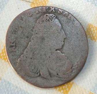 5 Soldi de Carlo Emmanuele III de Saboya, Reino de Cerdeña, 1733 1319