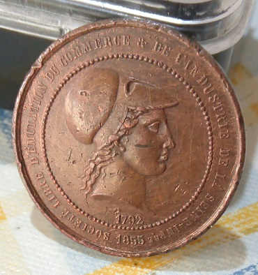 Médaille de la Sté Libre d'Emulation du Commerce et de l'Industrie de la Seine Inférieure 1855... 141