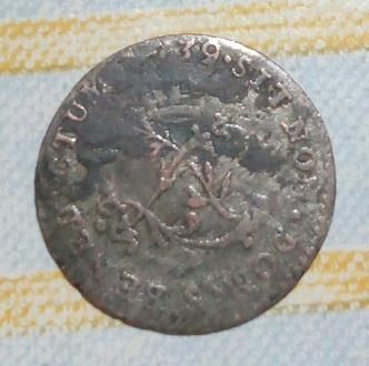"""Double sol pour Louis XV au """"L"""" couronnée, 1739 1511"""