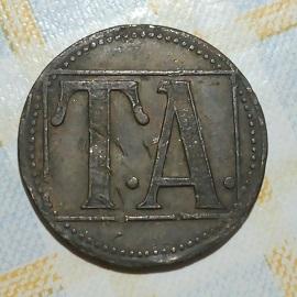 """Gran ficha con """" T A """" . 1513"""
