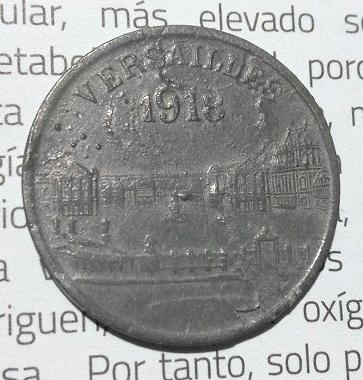 """Monnaie nécessité 25Cts """"Versailles 1918"""" ... 1516"""