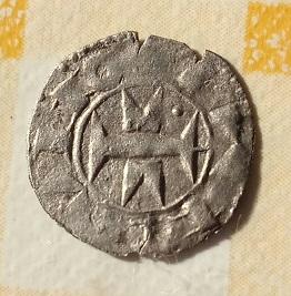 Óbolo Melgorés de Montpellier, s. XII - XIV. 15a19
