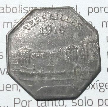 """Monnaie nécessité 10Cts """"Versailles 1918"""" ... 1618"""