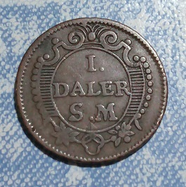 Suecia, 1 Daler Sylvermint, Karl XII, 1718 17a10