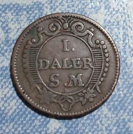 """1 Daler 1718 pour Charles XII de Suède """"Mercurius"""" 17a11"""