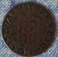 Demi-Batz 1708, Evêché de Sion (Suisse) François-Joseph Supersaxo ... 1a14
