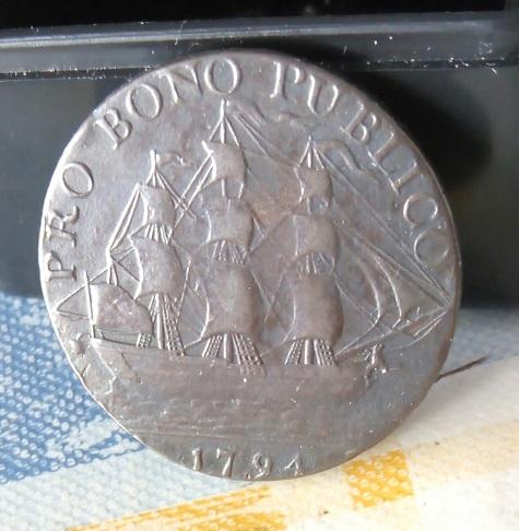 Jeton/nécessité ½ penny britannique, Gosport Promissory, 1794 ... 1a36