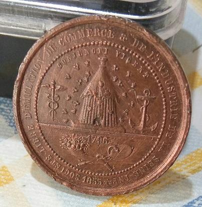 Médaille de la Sté Libre d'Emulation du Commerce et de l'Industrie de la Seine Inférieure 1855... 1a40