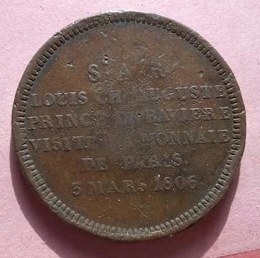 Maximil. Jos . Roi de Baviere, Visite la monnaie de Paris , 3 Mars . 1806 1a95