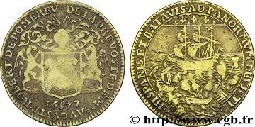 """Jeton """"Ile de France - Villes & Noblesse"""" Auguste Robert de Pomereu, 1677 ... 1aa10"""