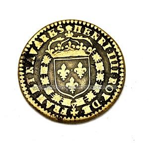 "Jeton Henri IIII ""ERVNT DVO INCARNE VNA"" (sont deux mais ne font qu'un) ... 1aaa10"