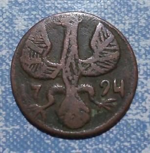Aigle, cuivre, 1724 230