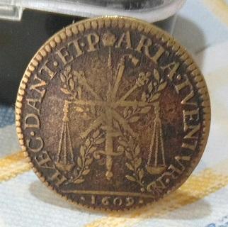 """Jeton de Nicolat Briot pour Henri IV """"HÆC.DANT.ET.PARTA.TVENTVR"""" 1609... 244"""