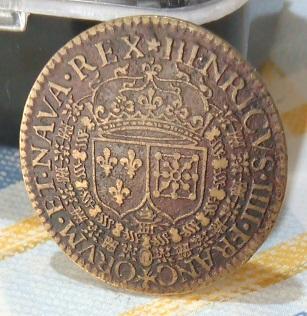 """Jeton de Nicolat Briot pour Henri IV """"HÆC.DANT.ET.PARTA.TVENTVR"""" 1609... 2a43"""