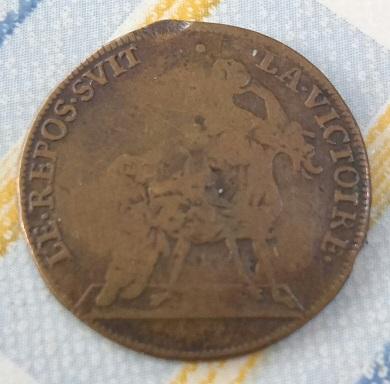 """Jeton Louis XIV """"LE REPOS SVIT LA VICTOIRE"""" ... 2a52"""