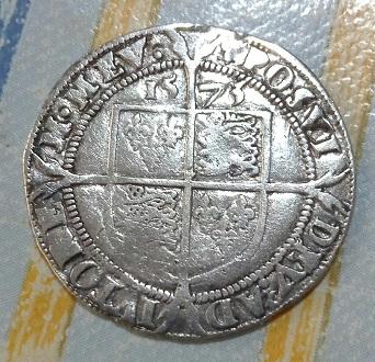 6 peniques de Isabel I de Inglaterra 2a93