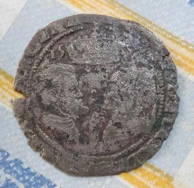 Groat de Felipe II y Maria Tudor. 1557 394