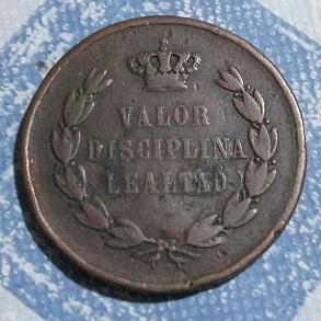 """Jeton d'Alfonso XII """"VALOR DISCIPLINA LEALTAD"""" ... 3a25"""