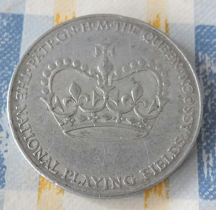 Isabel II , gran pieza de aluminio . 3a97