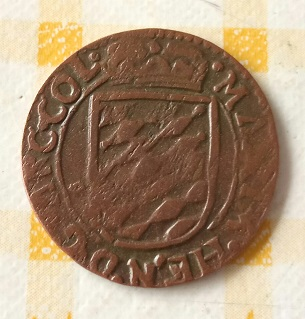 1 Liard de Maximilian Henry of Bavaria, 1650 -1688. Lieja 4a100