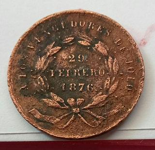 Médaille philippine, 29 Février 1876, Vainqueurs de Jolo, atelier monétaire de Manille ... 4a23