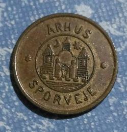Jeton de tramways de la ville de ARHUS Danemark ... 4a28