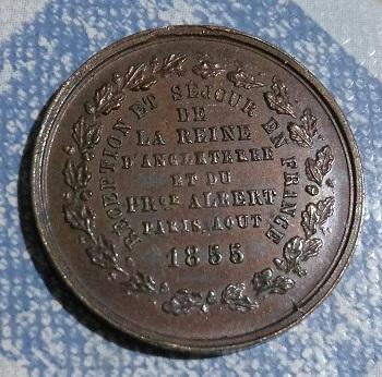 Victoria y Alberto , soberanos de Inglaterra , visita a Francia , 1855 4a46
