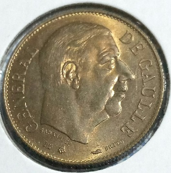 """Jeton/médaille Laléta """"Général De Gaulle, France, 1980 ... 548"""