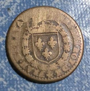 """Jeton Henri IIII """"ERVNT DVO INCARNE VNA"""" (sont deux mais ne font qu'un) ... 570"""