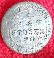 1/4 Stüber (1760) Clément-Auguste de Bavière, prince évêque de Cologne ... 5a12