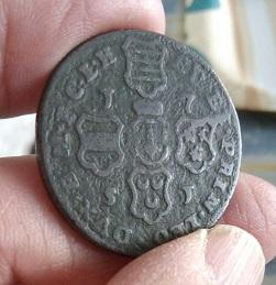 4 Liard de Juan Teodoro de Lieja, casa de Baviera, 1751 5a31