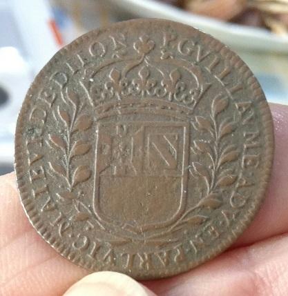 Jeton de Pierre Guillaume, 1663, maire de la ville de Dijon ... 5a34